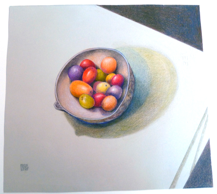 Bowl by Phyllis Steele 13 x 12 Pencil on paper