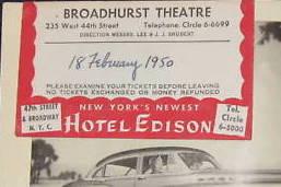 Broadhurst Theatre Ticket Info