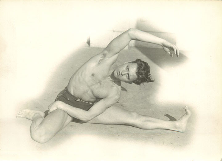 Early Career Nagrin Excersize Pose Sitting