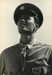 Early Career Nagrin WW II Military Portrait Looking Up 1
