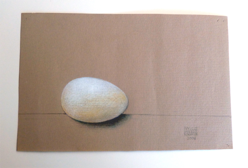 Egg by Phyllis Steele 8 x 5 Pencil on paper
