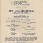 How Long Brethren WPA Playbill Title Page w Production Part 2