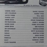 Plain and Fancy Playbill Characters List