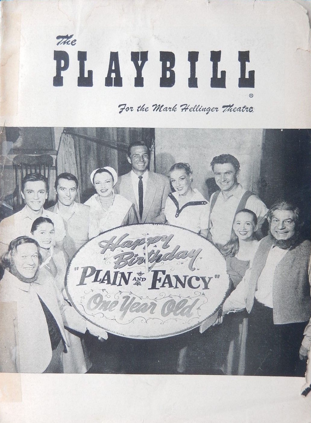 Plain and Fancy Playbill Cover w Birthday